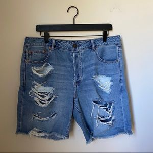 American Eagle Distressed Tomgirl Bermuda Shorts